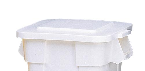 Lid for multi-purpose container of polyethylene (PE), volume 105 litres, white - 1