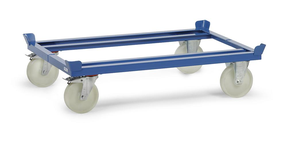 PA mobile frame for Euro pallets, polyamide tyres, height 270 mm