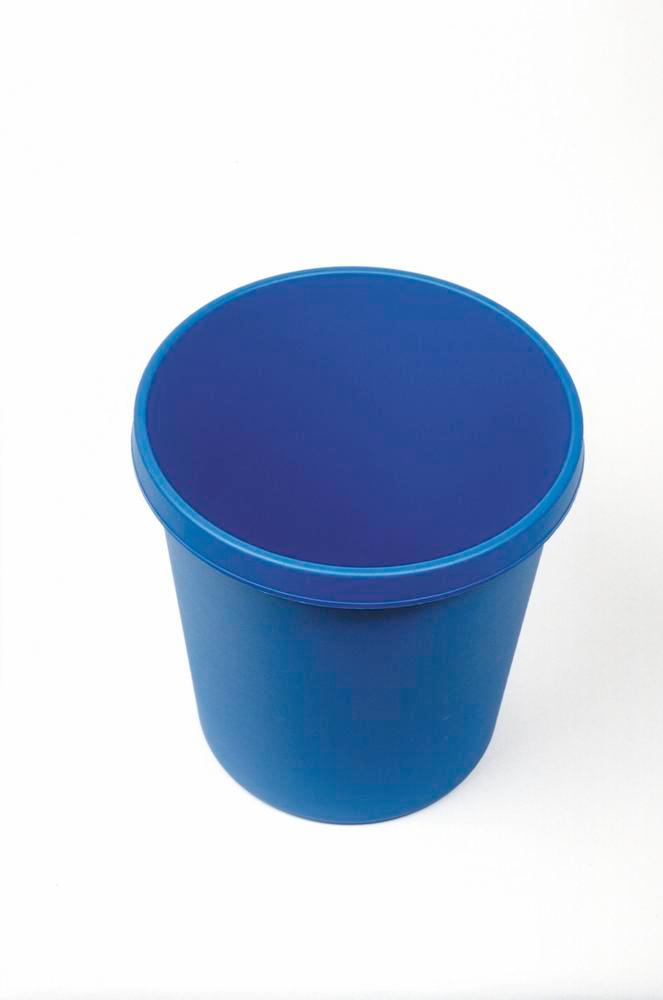 Paper bin with edge grip, 18 litre volume, blue