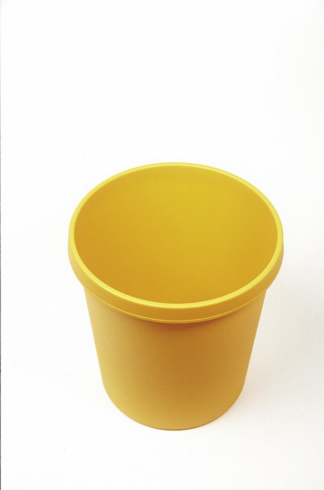 Paper bin with edge grip, 18 litre volume, yellow