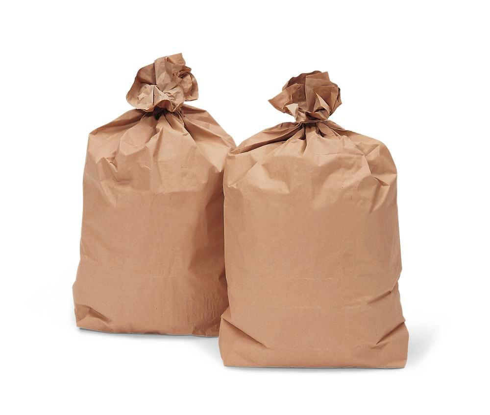 Paper waste sacks, 70 litre capacity