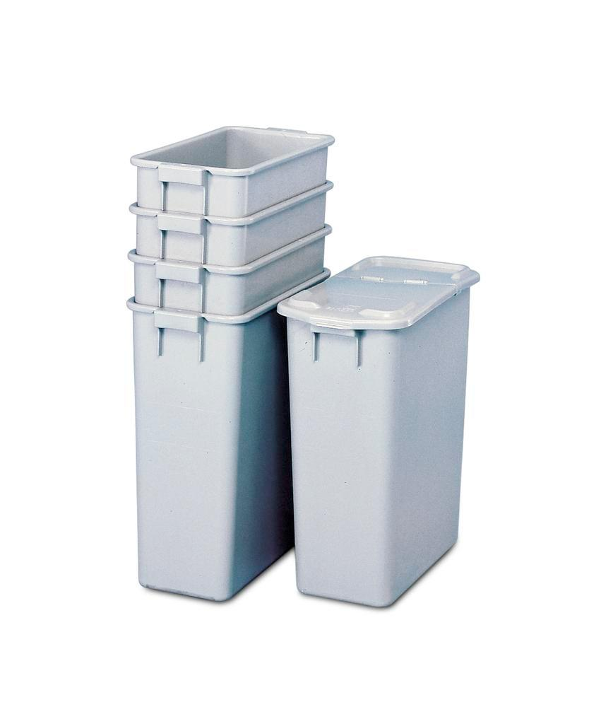 Recyclable material container in polypropylene (PP), for waste stations & cabinets, 60 litre volume - 1