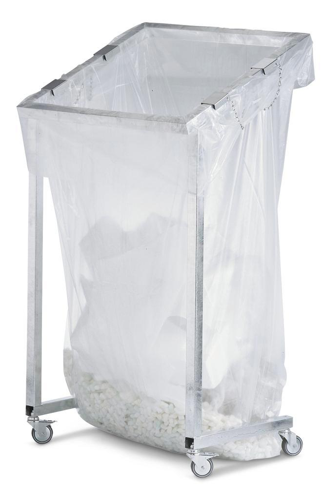 Refuse sacks, for large bin sack stands, 2500 litre capacity, 10 per pack