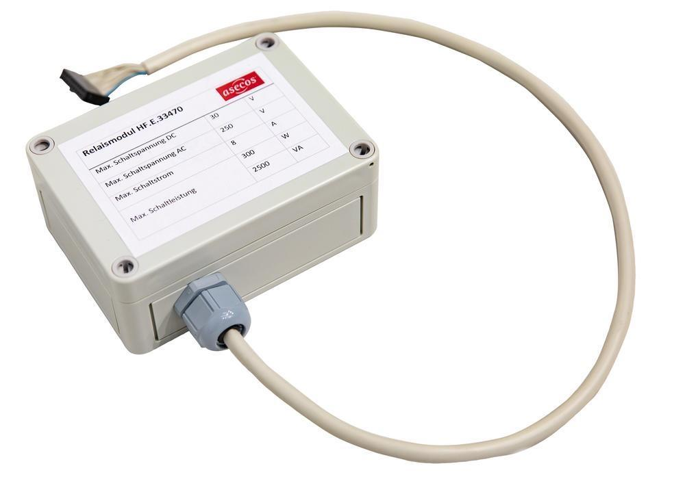 Relay module alarm differentiation, potential-free relay of 4 different alarm conditions