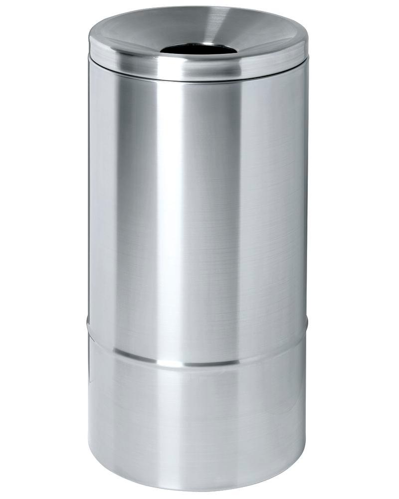 Self-extinguishing waste paper bin, 50 litres, stainless steel