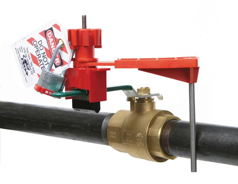 Small blocking post for locking levers, T handles and other mechanical equipment - 2