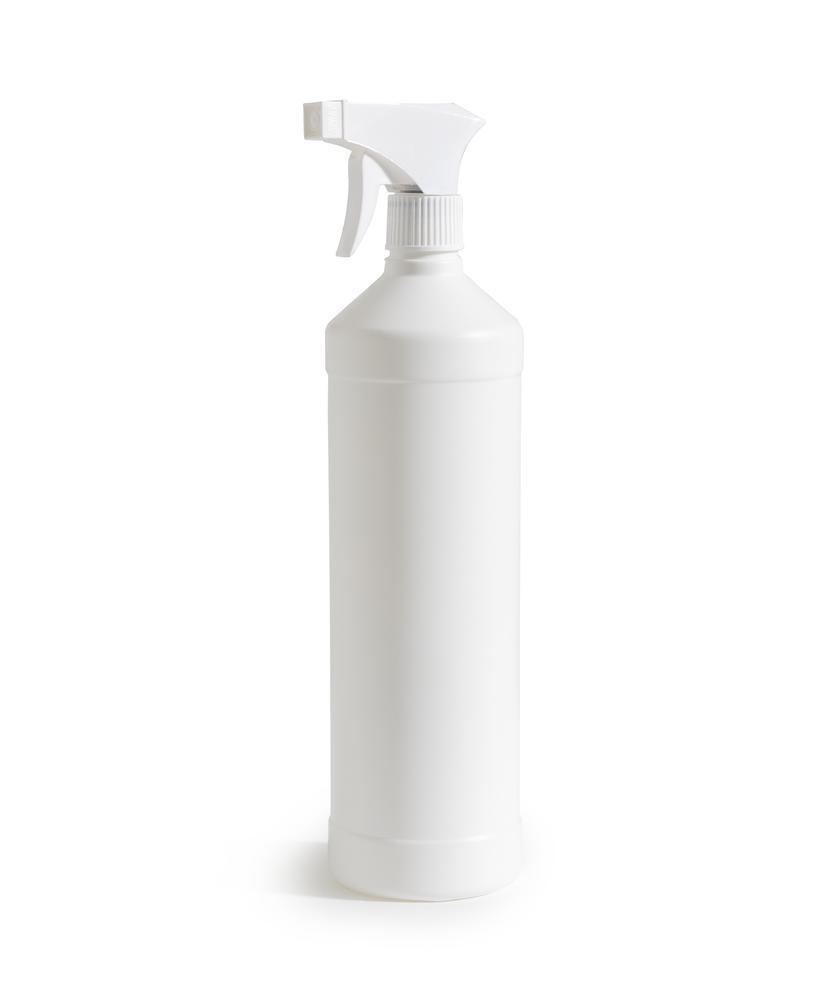 Spray bottle in HDPE, 1000 ml, natural, Pack = 5 pieces