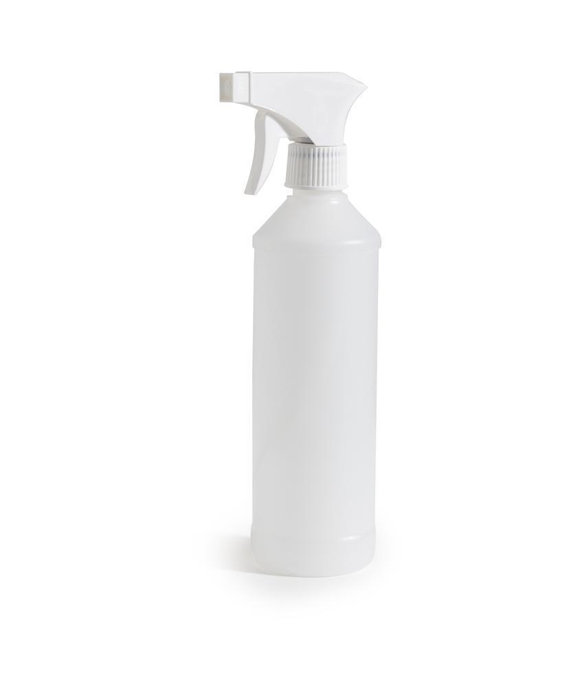 Spray bottle in HDPE, 500 ml, natural, Pack = 5 pieces