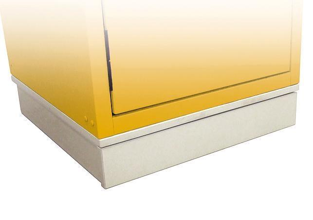Transport base for hazardous material cabinets, 600 mm wide