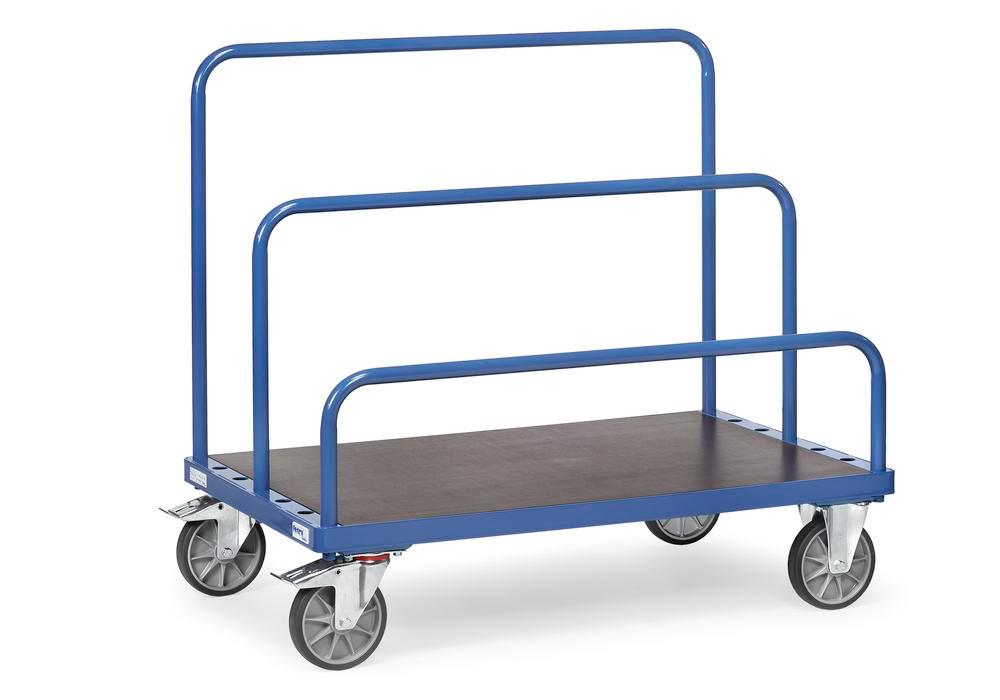 Universal board trolley, for up to 7 tubular frames, 800 x 1200 mm loading surface