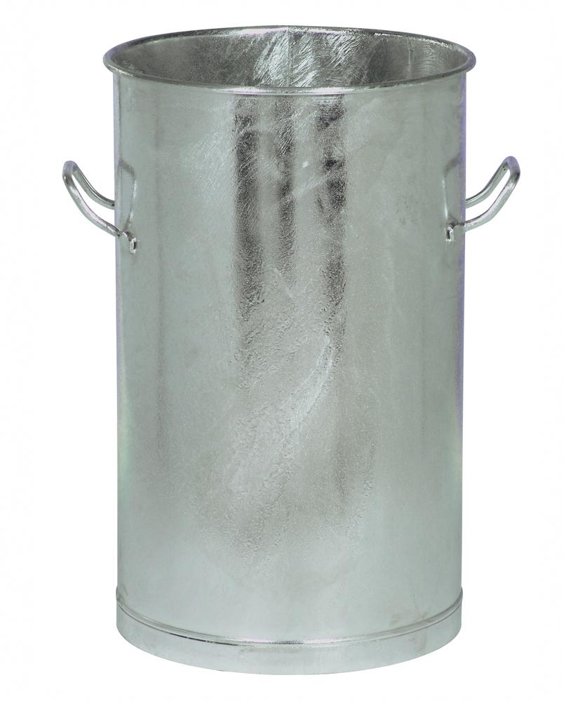 Waste bin, sheet steel, 80 litre capacity, galvanized - 1