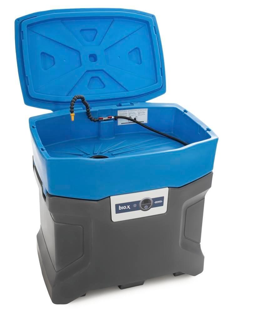 bio.x C100 parts cleaner, complete set consisting of washstand, lid and initial filling