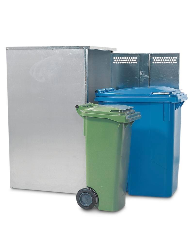 Box Vario, galvanised, for waste bins up to 360 litres, including rear panel