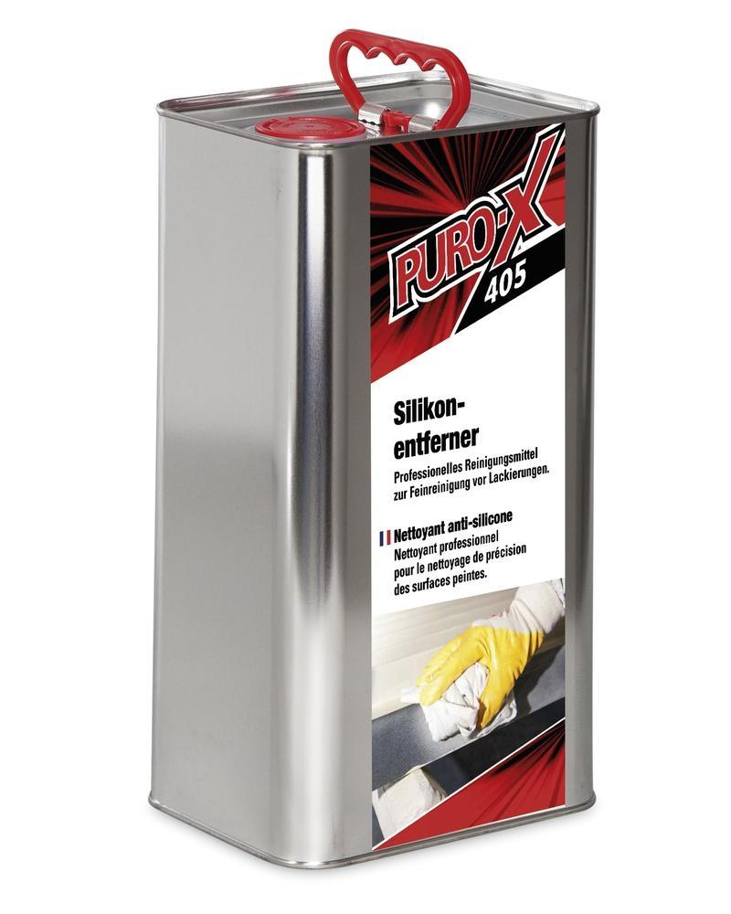 Brake cleaner and silicon remover PURO-X 405, powerful solvent cleaner, canister 5 litres
