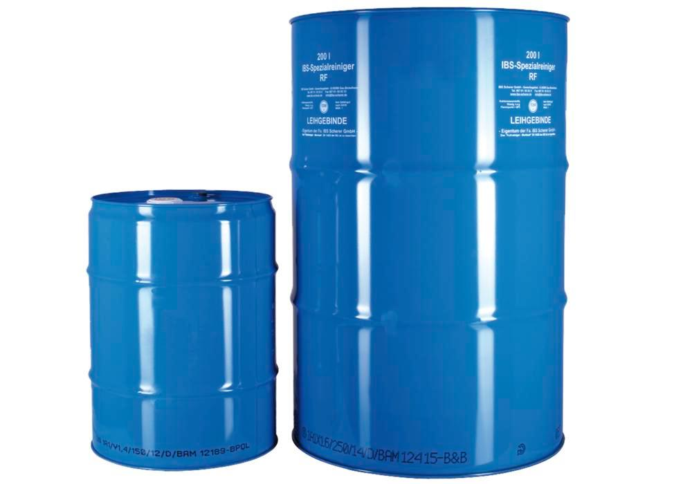 Cleaning fluid RF, for oil and grease contamination, evaporates slowly, 50 litre drum