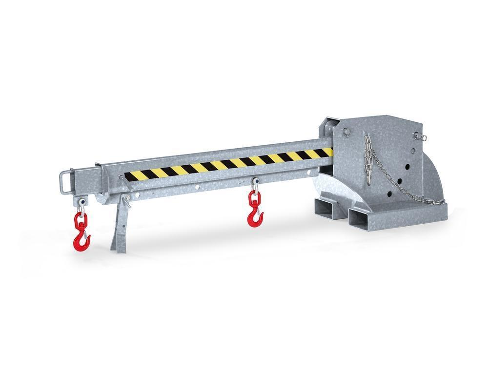 Crane arm, extendable and height adjustable, load capacity 650 - 3000 kg, galvanised