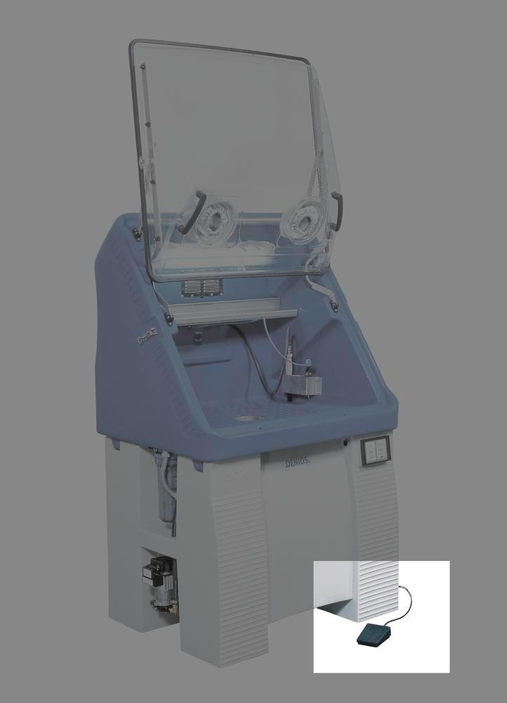 Electro-pneumatical pedal for bio.x parts cleaning tables