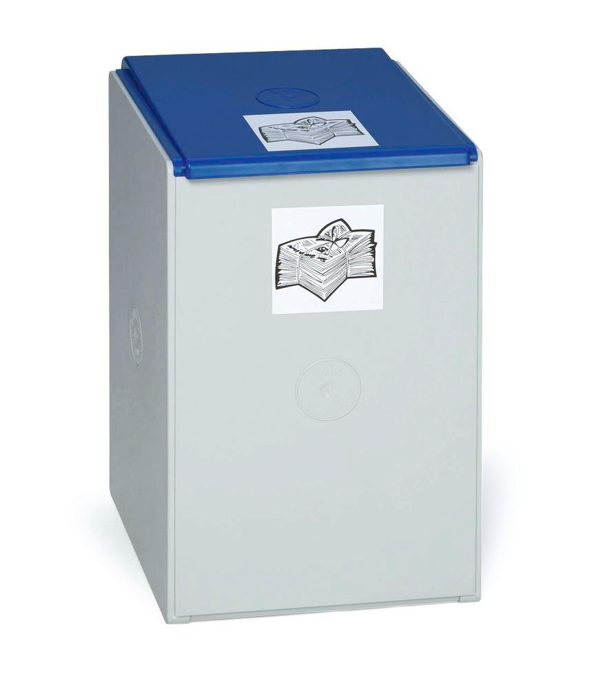 Extension bin (without lid) for modular waste collection system for recyclable materials, 60 litres