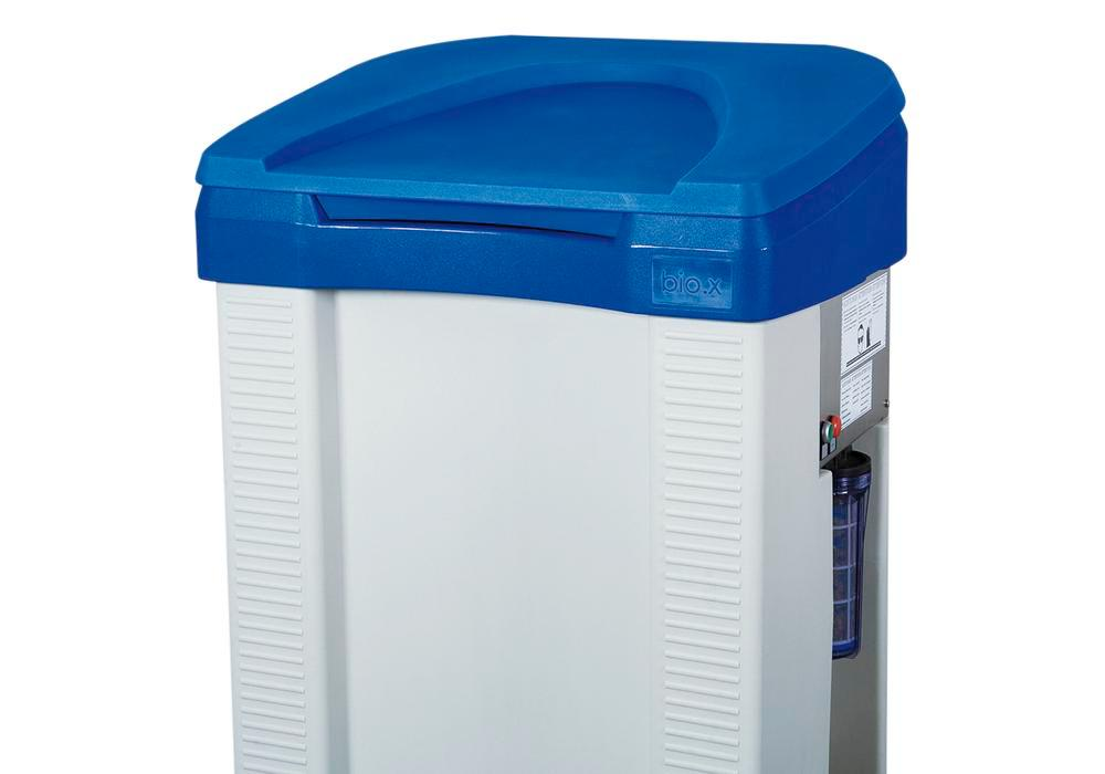 Foldable lid for parts cleaning table bio.x B200, polyethylene, with hinge, blue - 1