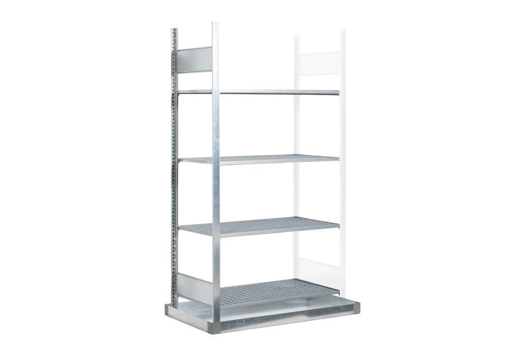 Hazmat rack GRB 1040 f. flammable substances, with spill pallet, 1006 x 526 x 2000 mm, extension