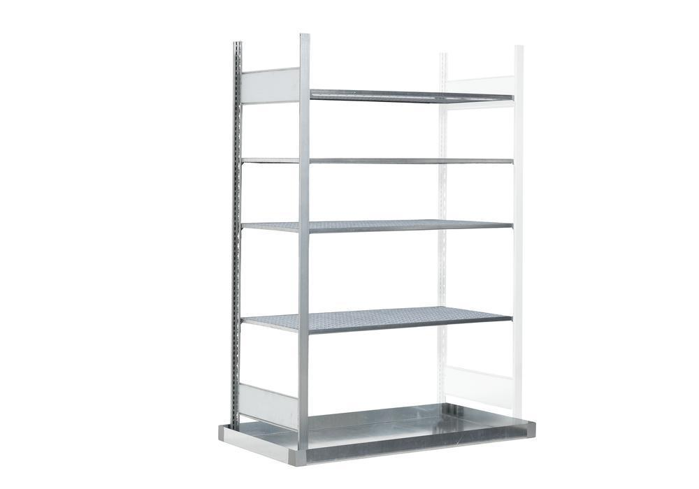 Hazmat rack GRB 1340 f. flammable substances, with spill pallet, 1306 x 526 x 2000 mm, extension
