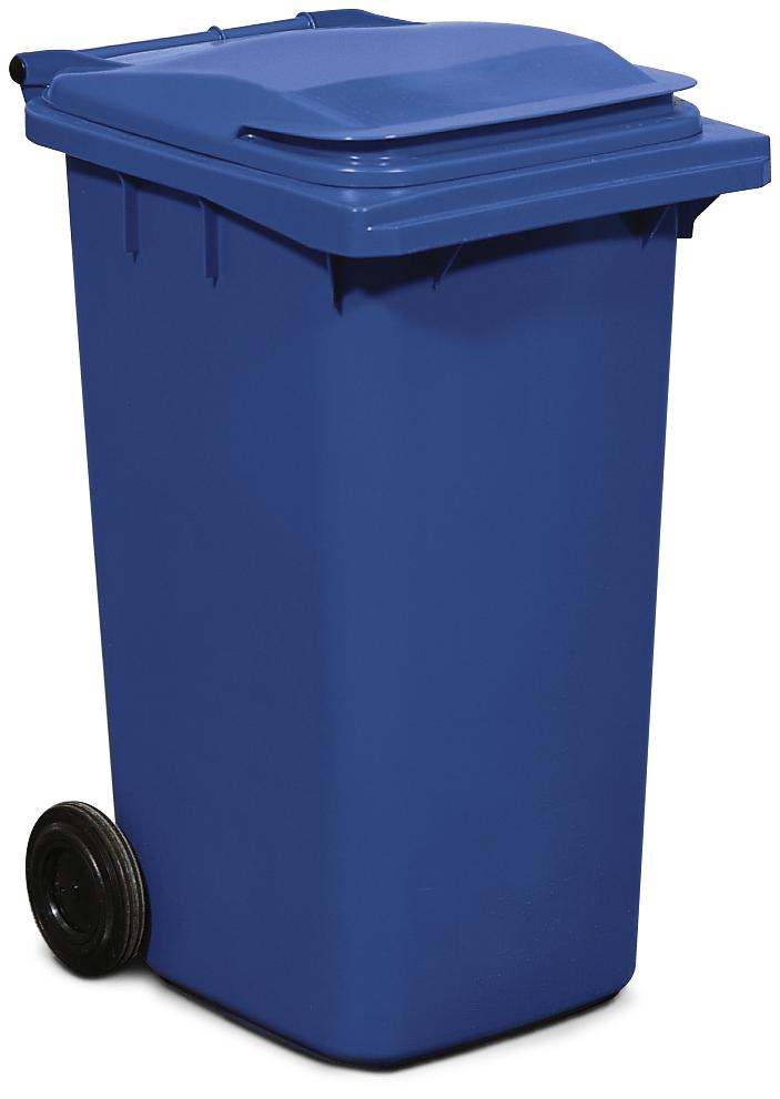 Large wheelie bin, 240 litre volume, blue