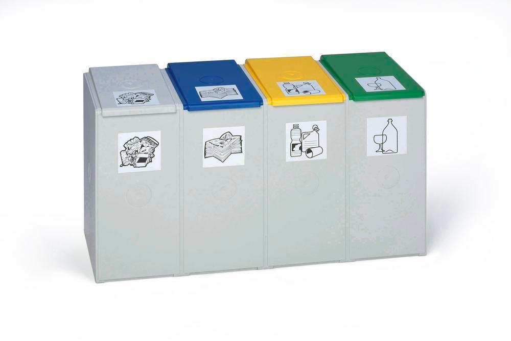 Modular system for recyclable materials 2nd element (without lid), 40 litres