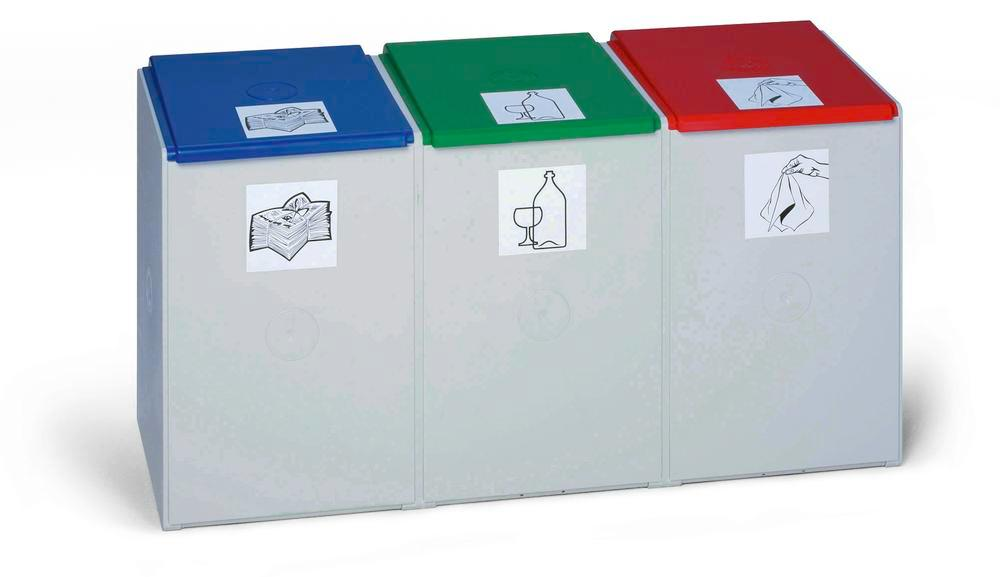 Modular system for recyclable materials 3rd element (without lid), 40 litres