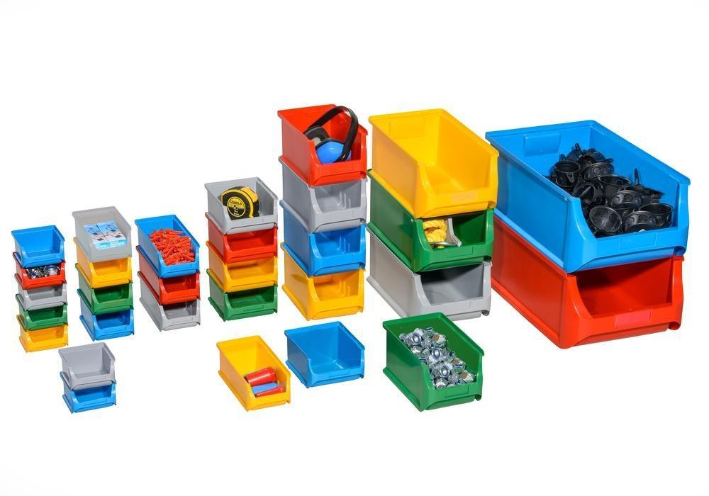 Open-fronted storage bins pro-line A1, PP, 100 x 100 x 60 mm, blue, Pack = 30 pcs.