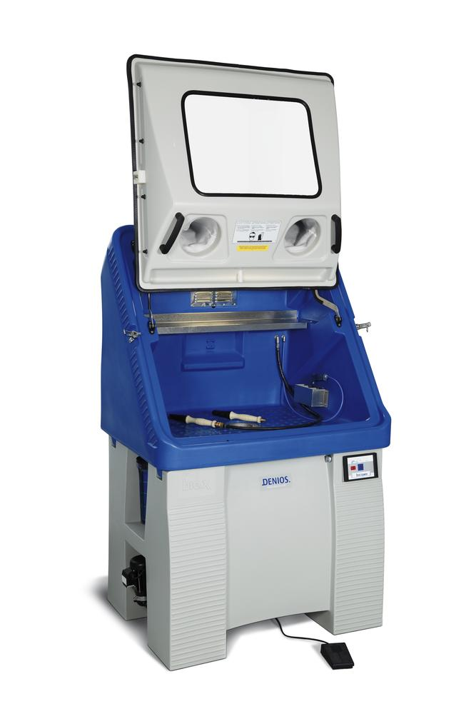 Parts cleaner bio.x T700, 230 V, with lighting, foot switch, compressed air gun, filter, w/o liquid
