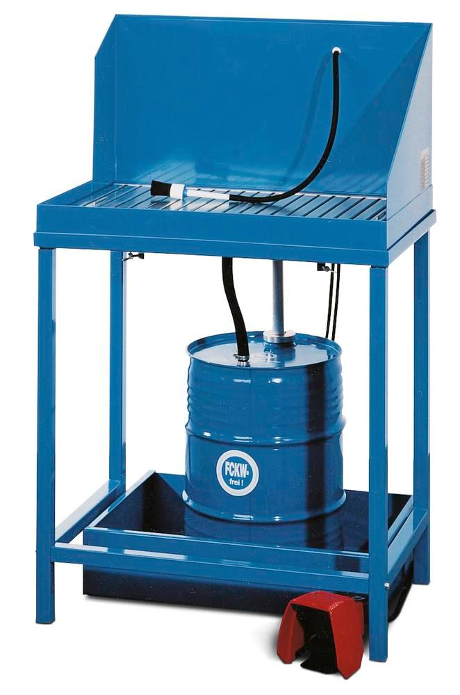 Parts cleaner K50 with connection for one 50 litre cold cleaner drum, stationary