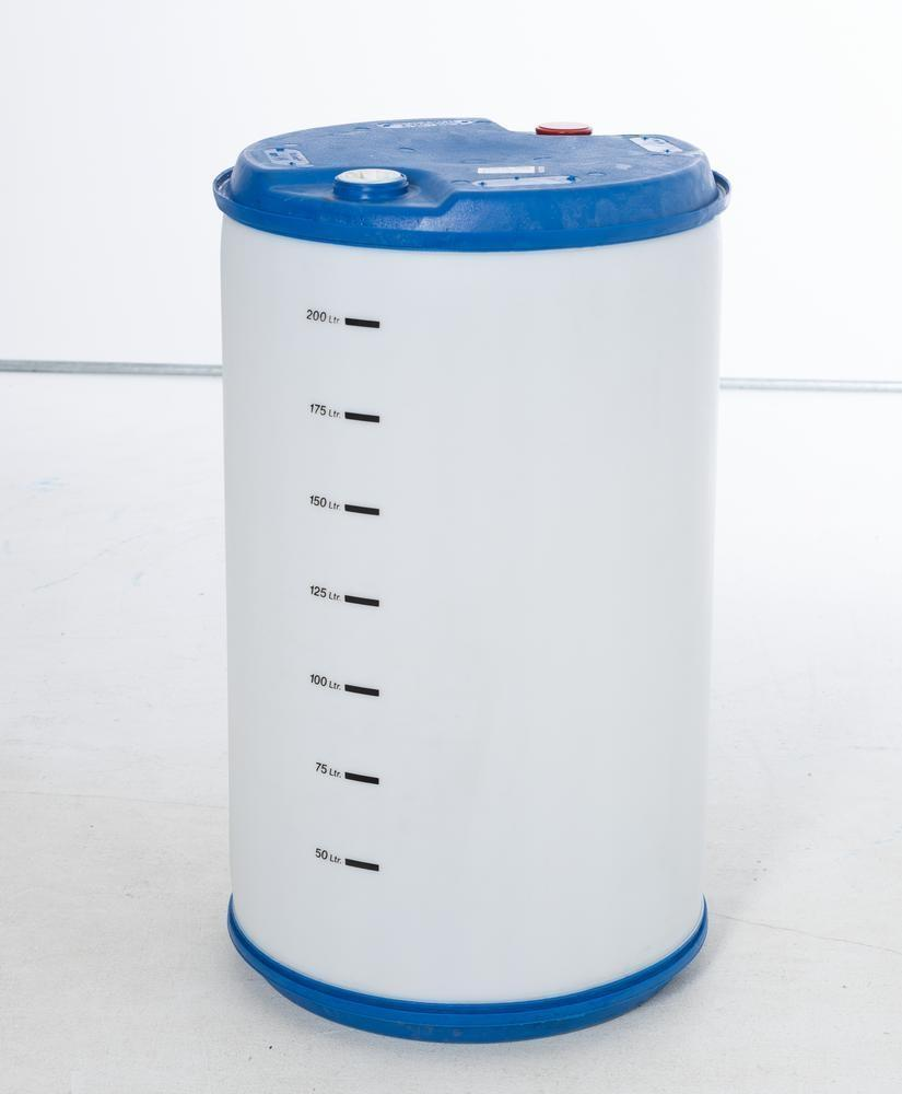 """Plastic bung drum with scale, 220 litre, bung thread 2'' coarse and 2"""" Trisure - 1"""