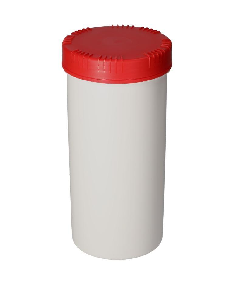 Plastic cans in HDPE with lid, round, natural-transparent, 2500 ml, with UN approval, 5 pieces