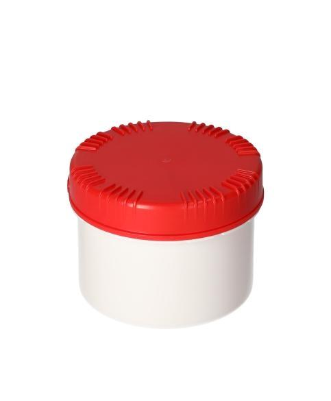 Plastic cans in HDPE with lid, round, natural-transparent, 500 ml, with UN approval, 10 pieces
