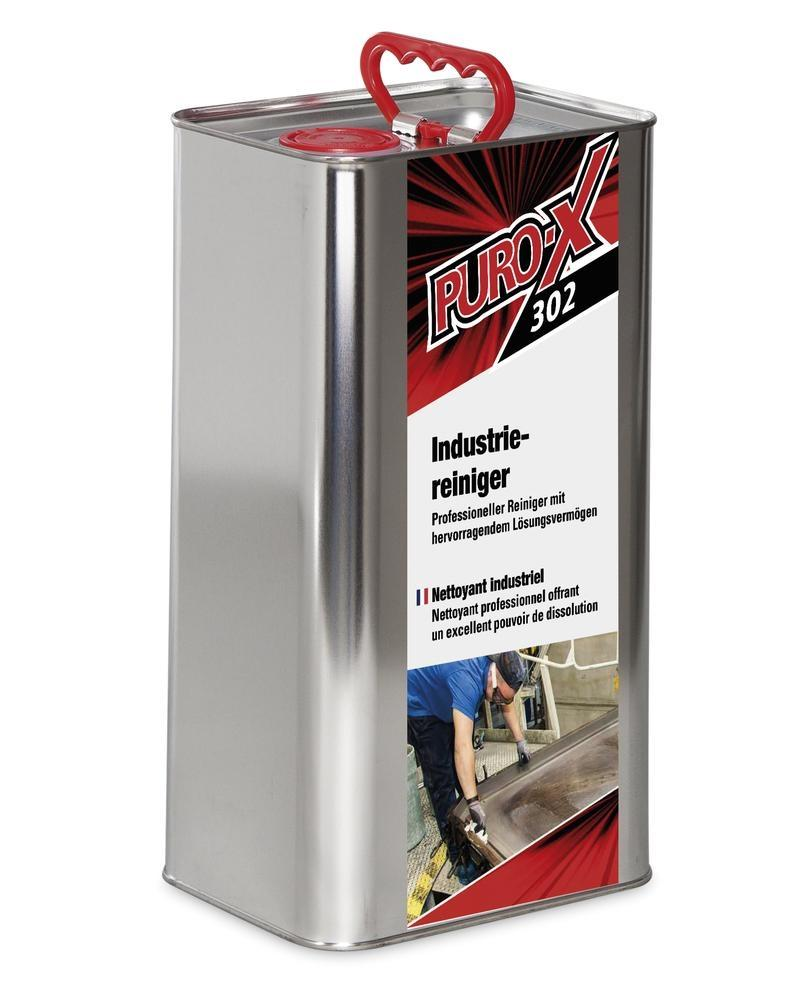 Puro-X 302 industrial cleaner, 1 x 5 litre canister