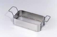 Stainless steel basket with plastic coated handles for S 450 H ultrasound cleaner - 1