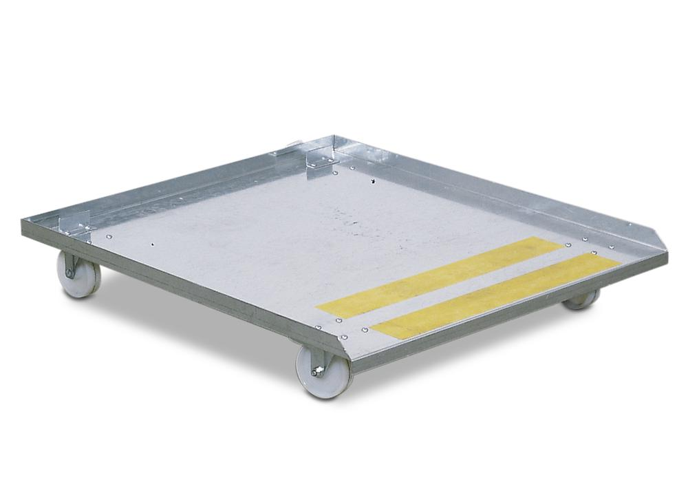 Trolley for parts cleaning table bio.x B200 and S200, 4 castors, 2 with brakes