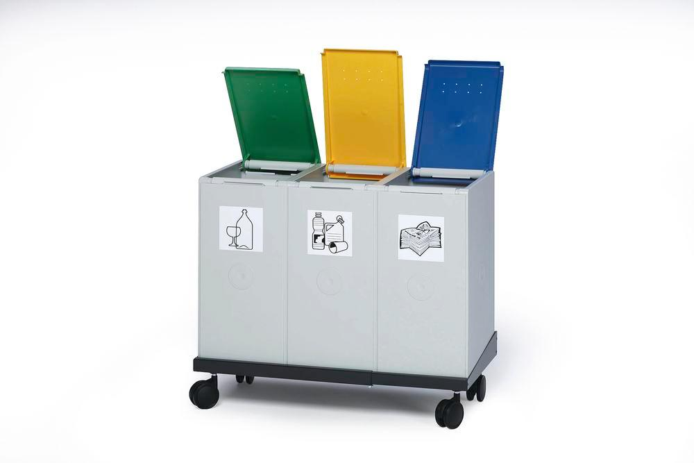 Trolley RW2 for modular waste collection system for recyclable materials