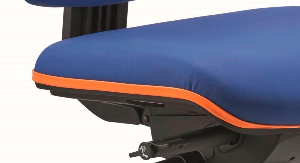 Upholstery and edge protection orange for ESD work chairs
