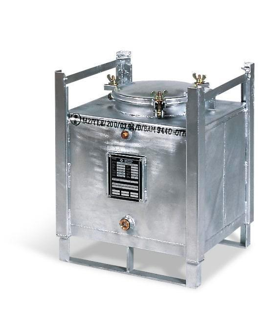 ASF container double walled, 100 litre volume, hot dip galvanised - 1