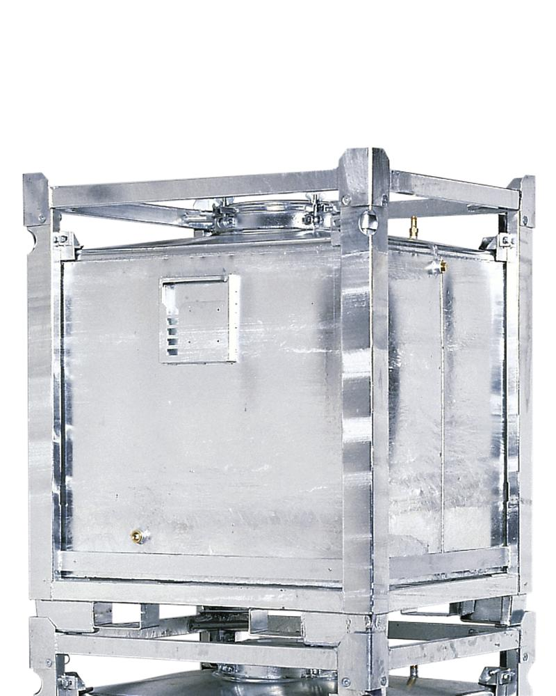 ASF container double walled, 1000 litre volume, hot dip galvanised - 1