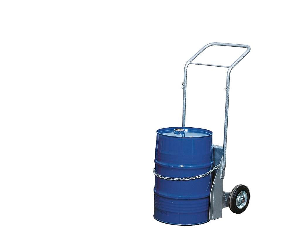 Carboy trolley BK-60, galvanised, solid rubber wheels, for containers up to 60 litre, anti-static - 1