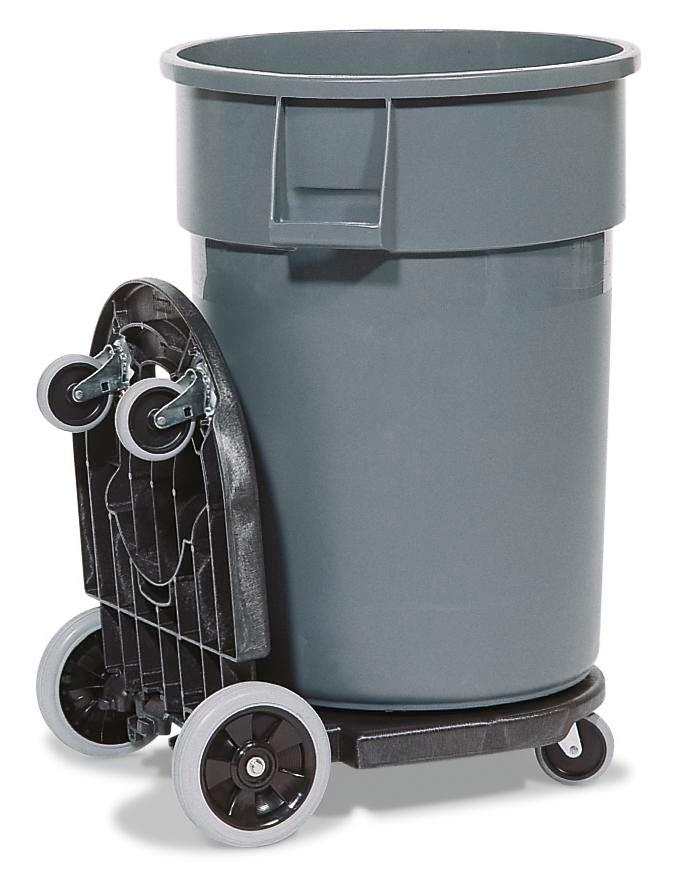 DENSORB Waste Disposal Trolley with 2 Containers (120 and 170 Litres) - 2