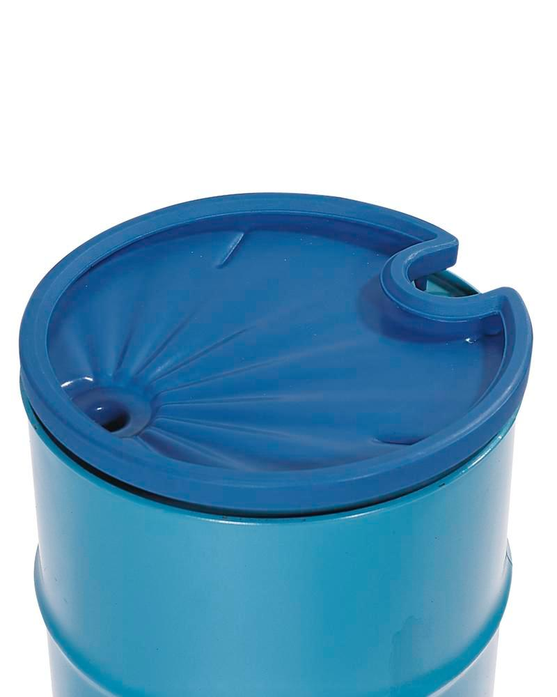 Drum funnel in polyethylene (PE), round, 5 L volume