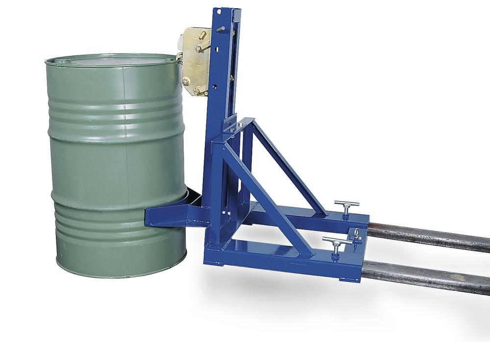 Drum gripper, SH 1,made from steel, painted, for 1 drum holding 205 litres