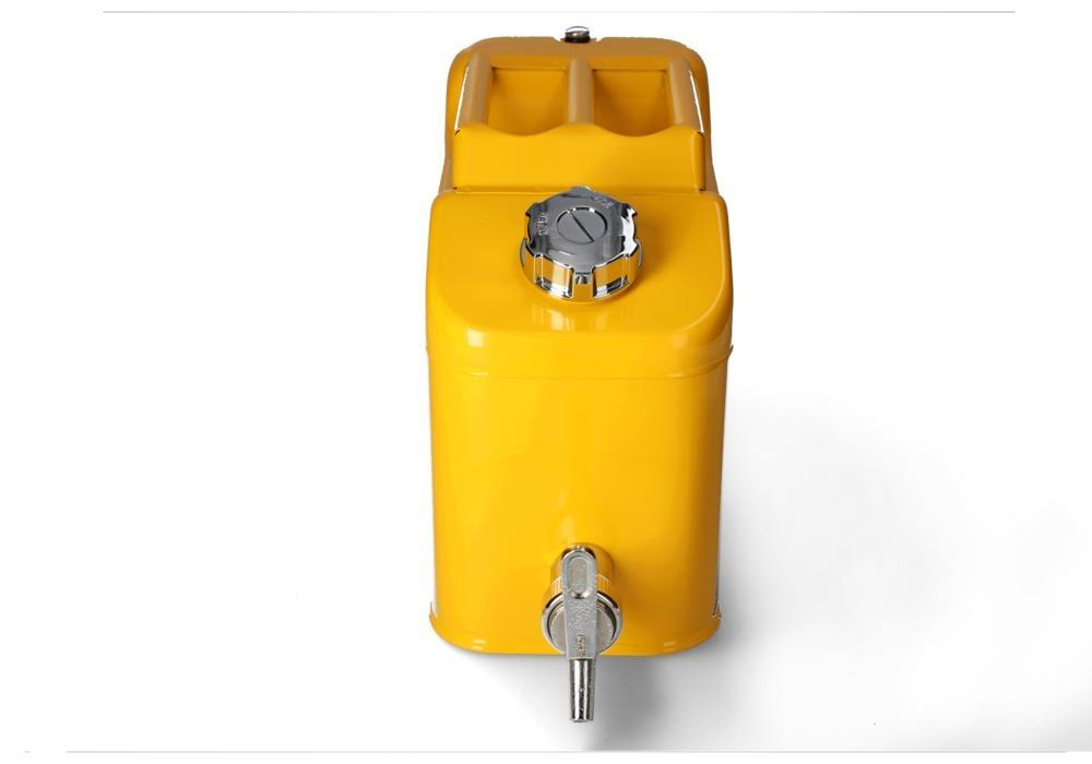 FALCON safety canister in steel, painted, with fine measuring tap, 10 litres - 2