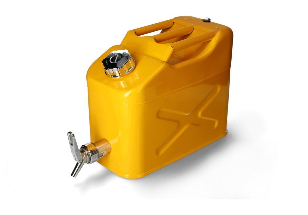 FALCON safety canister in steel, painted, with fine measuring tap, 10 litres - 4