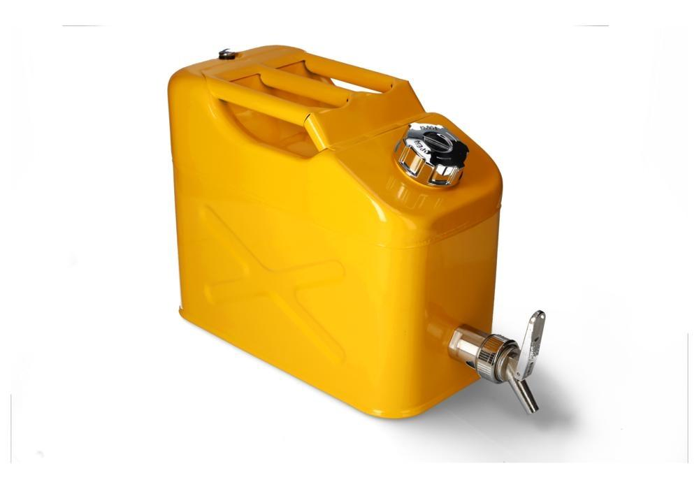 FALCON safety canister in steel, painted, with fine measuring tap, 10 litres