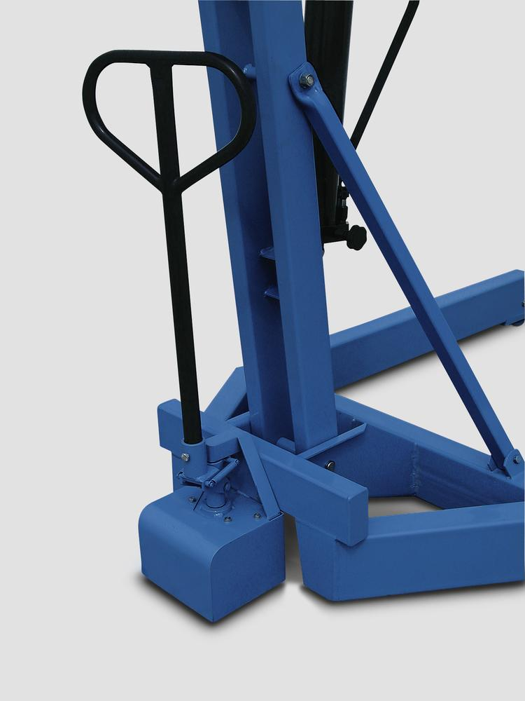 Industrial crane IK 1500 Z with special hydraulic pump, parallel frame, load capacity 750-1500 kg