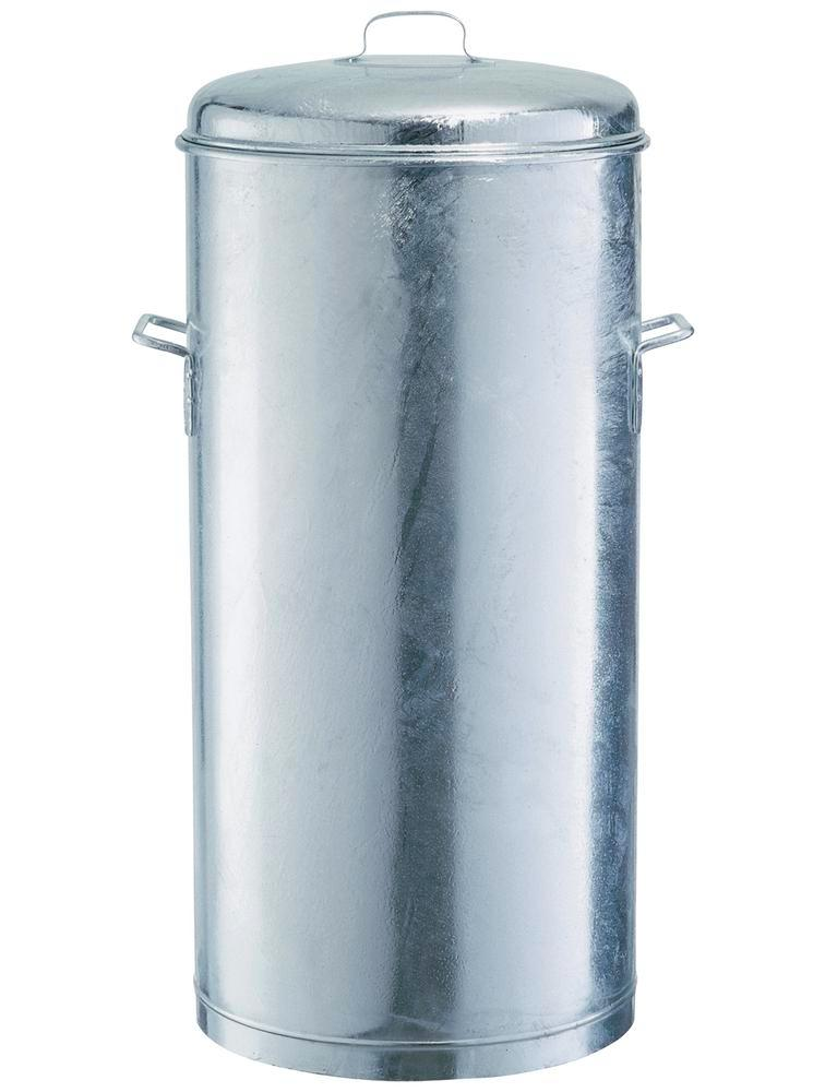 Lid, galvanized, for waste collector with 60 litre capacity - 1